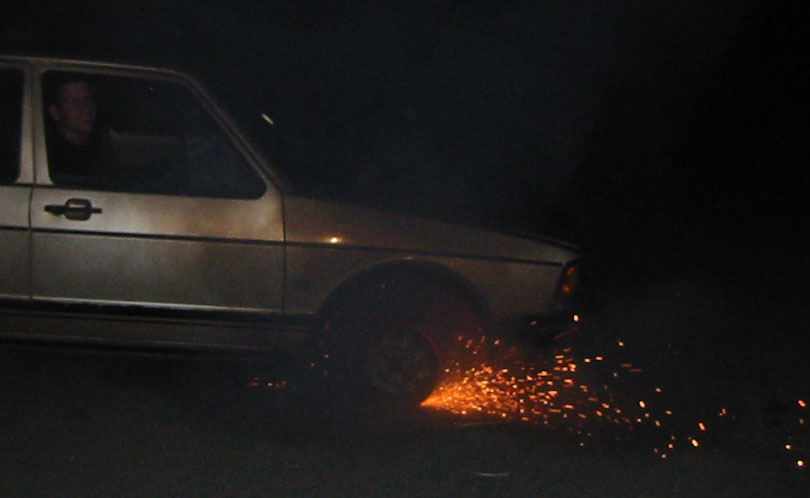 VW Fox fireworks